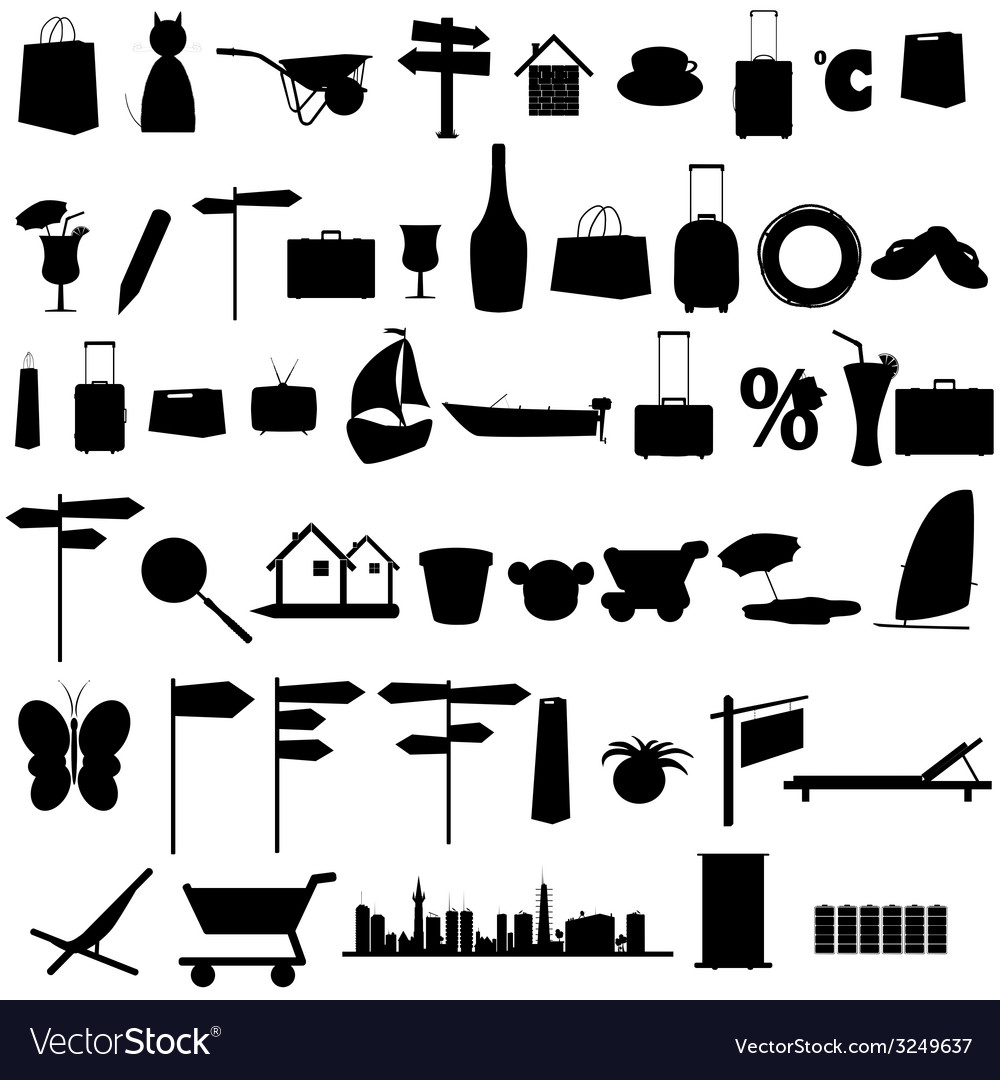 Stuff black silhouette and more vector | Price: 1 Credit (USD $1)