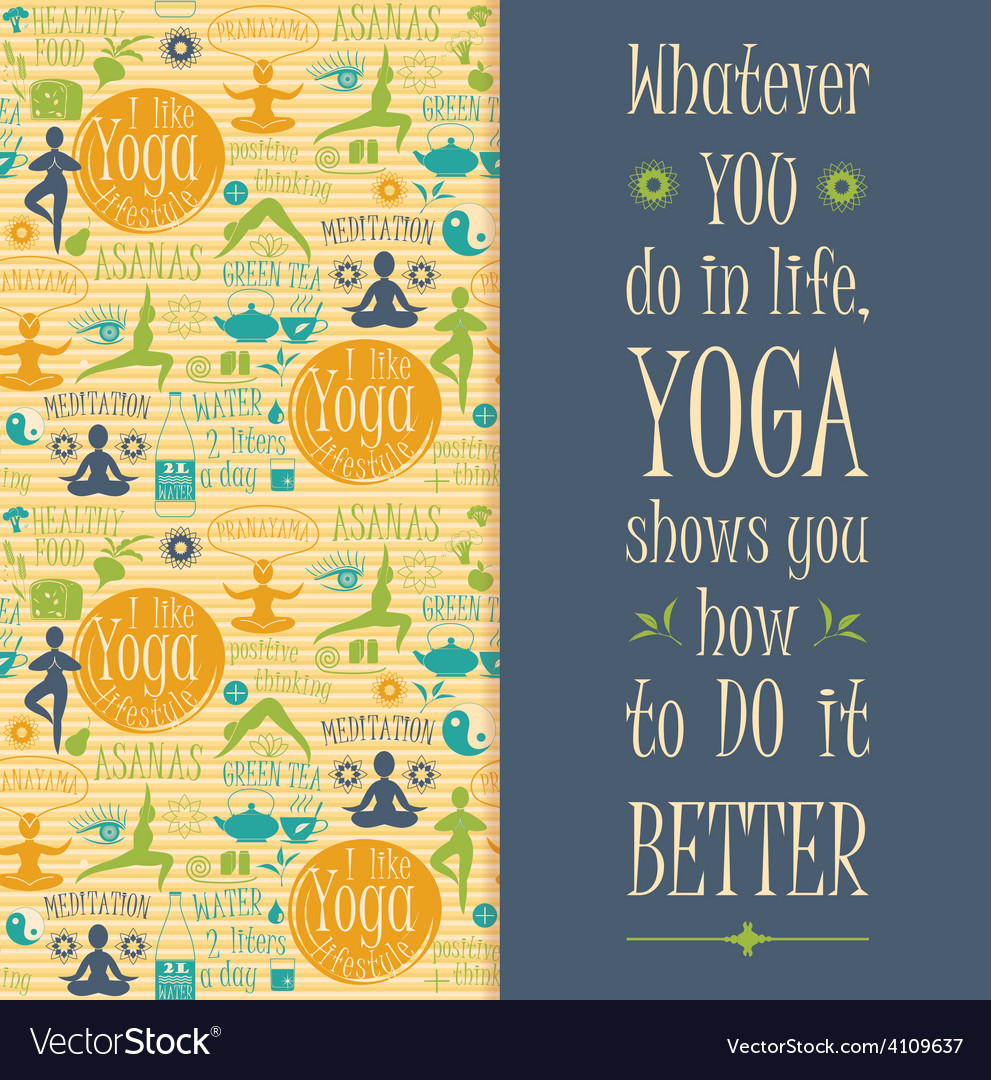 Yoga background with yogic quote vector | Price: 1 Credit (USD $1)