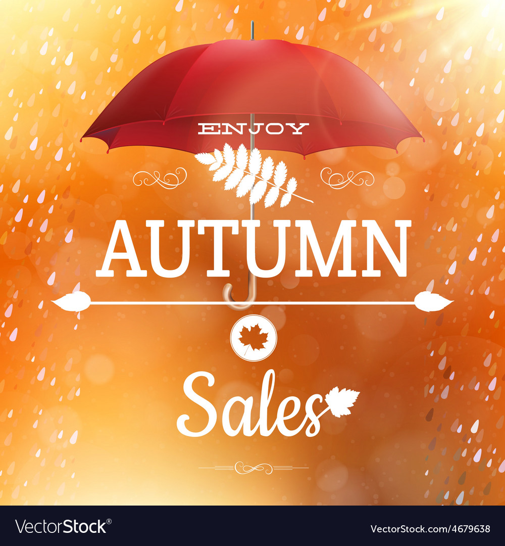 Autumn sale backdrop eps 10 vector | Price: 1 Credit (USD $1)