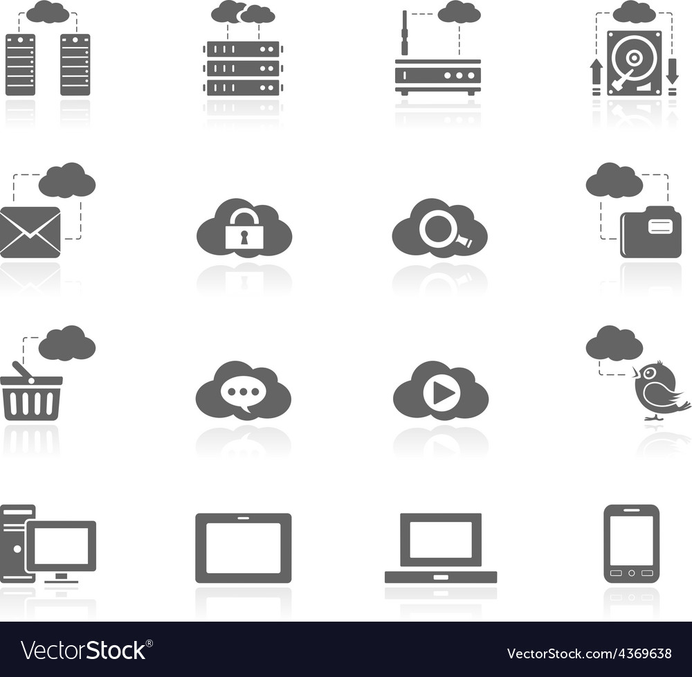 Black icons - cloud computing vector | Price: 1 Credit (USD $1)