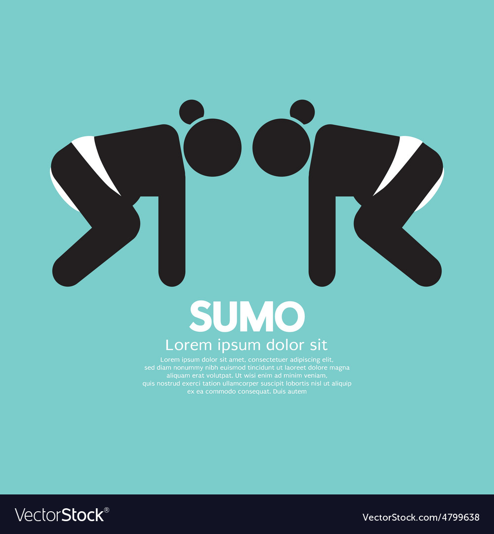 Black symbol graphic sumo fighting vector | Price: 1 Credit (USD $1)