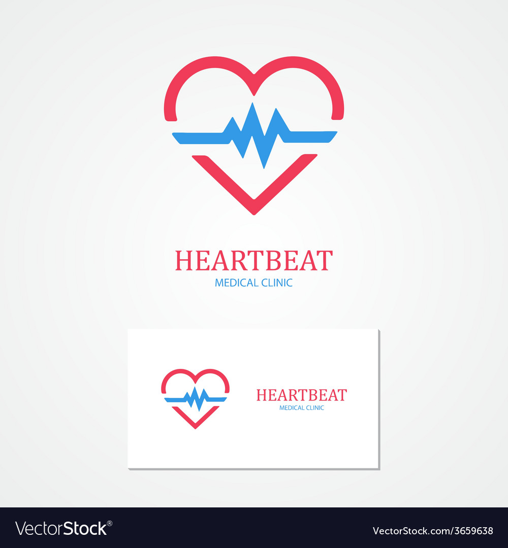 Combination of a heart and pulse with business vector | Price: 1 Credit (USD $1)