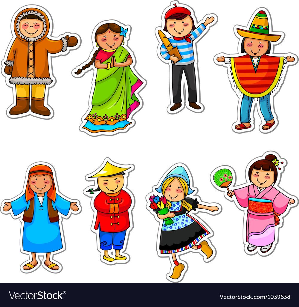 Ethnic diversity vector | Price: 3 Credit (USD $3)