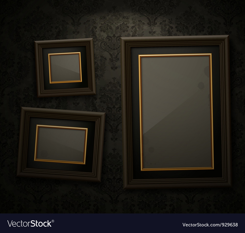 Exhibition wall paper frame vector | Price: 3 Credit (USD $3)