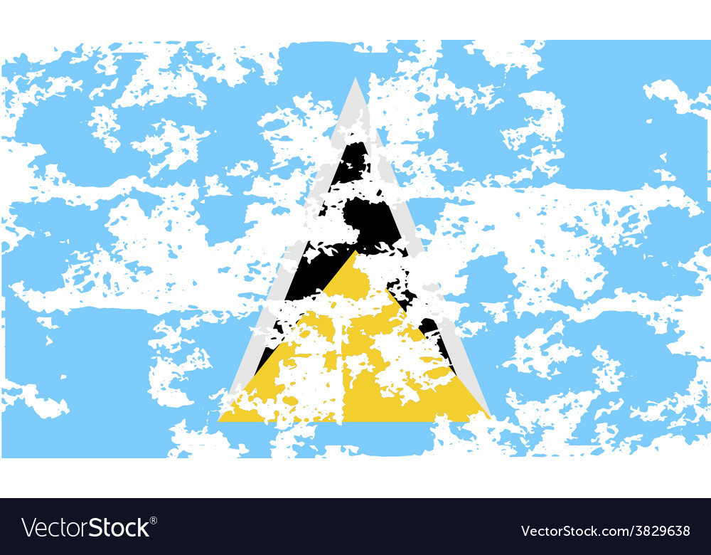 Flag of saint lucia with old texture vector | Price: 1 Credit (USD $1)