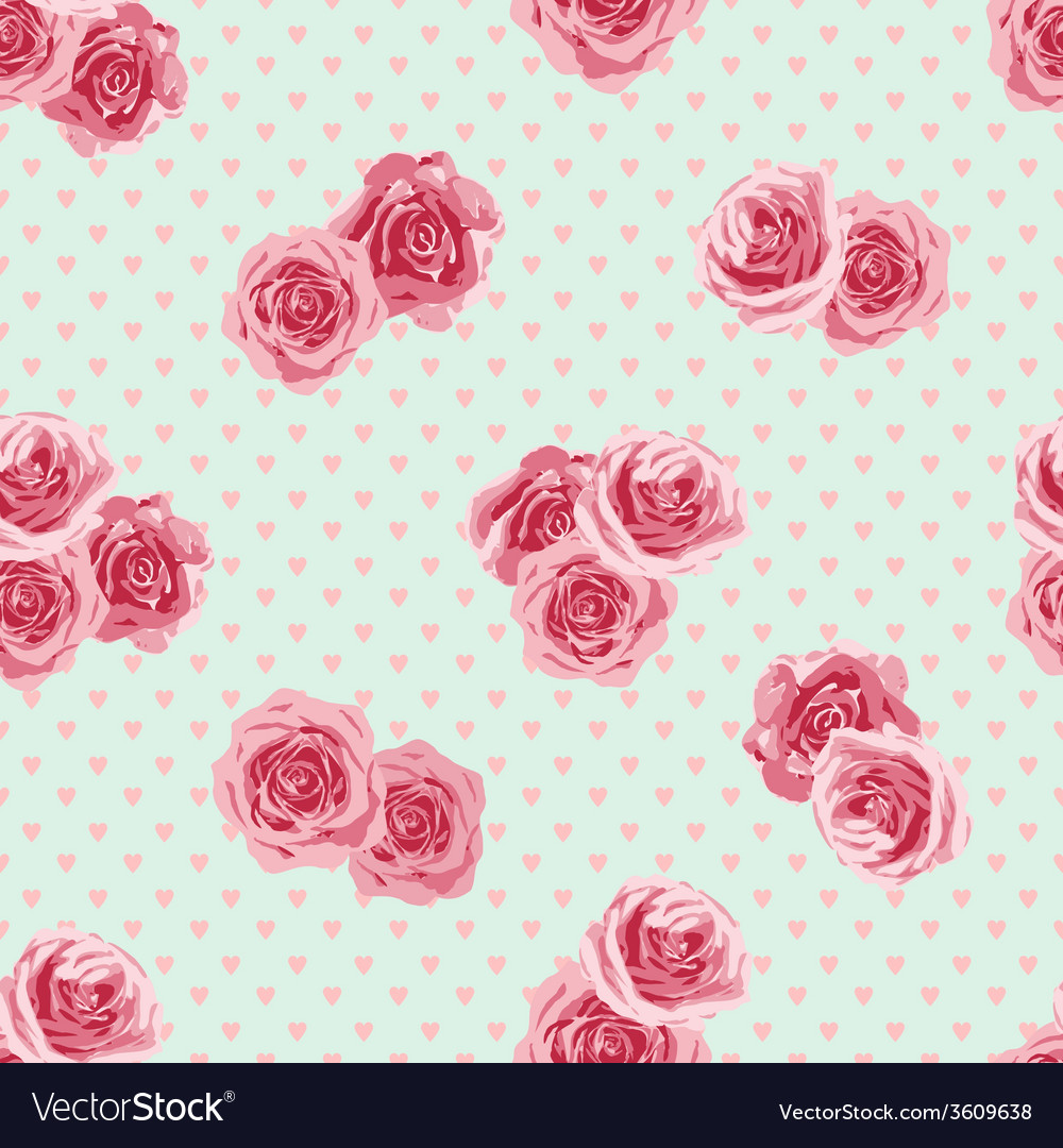 Flower seamless pattern with roses vector   Price: 1 Credit (USD $1)