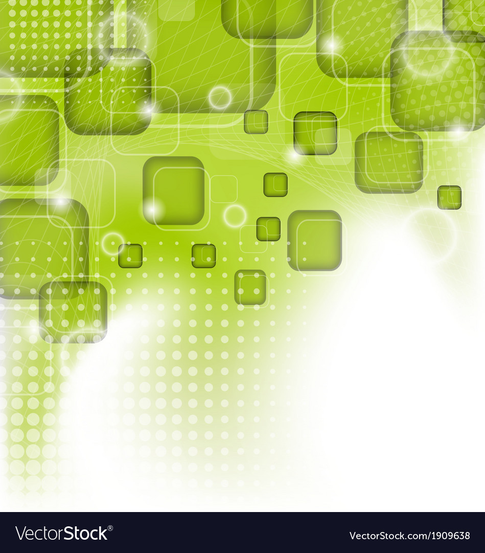Futuristic set squares abstract green background vector | Price: 1 Credit (USD $1)