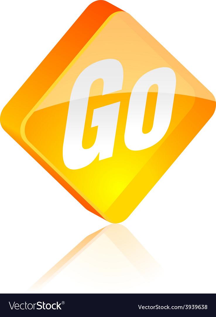 Go button vector | Price: 1 Credit (USD $1)