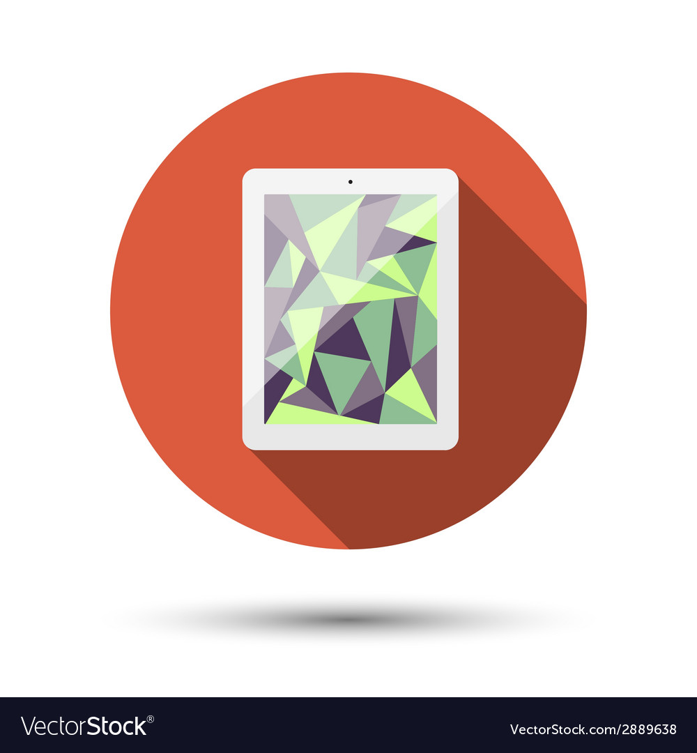 The icon with the tablet vector | Price: 1 Credit (USD $1)