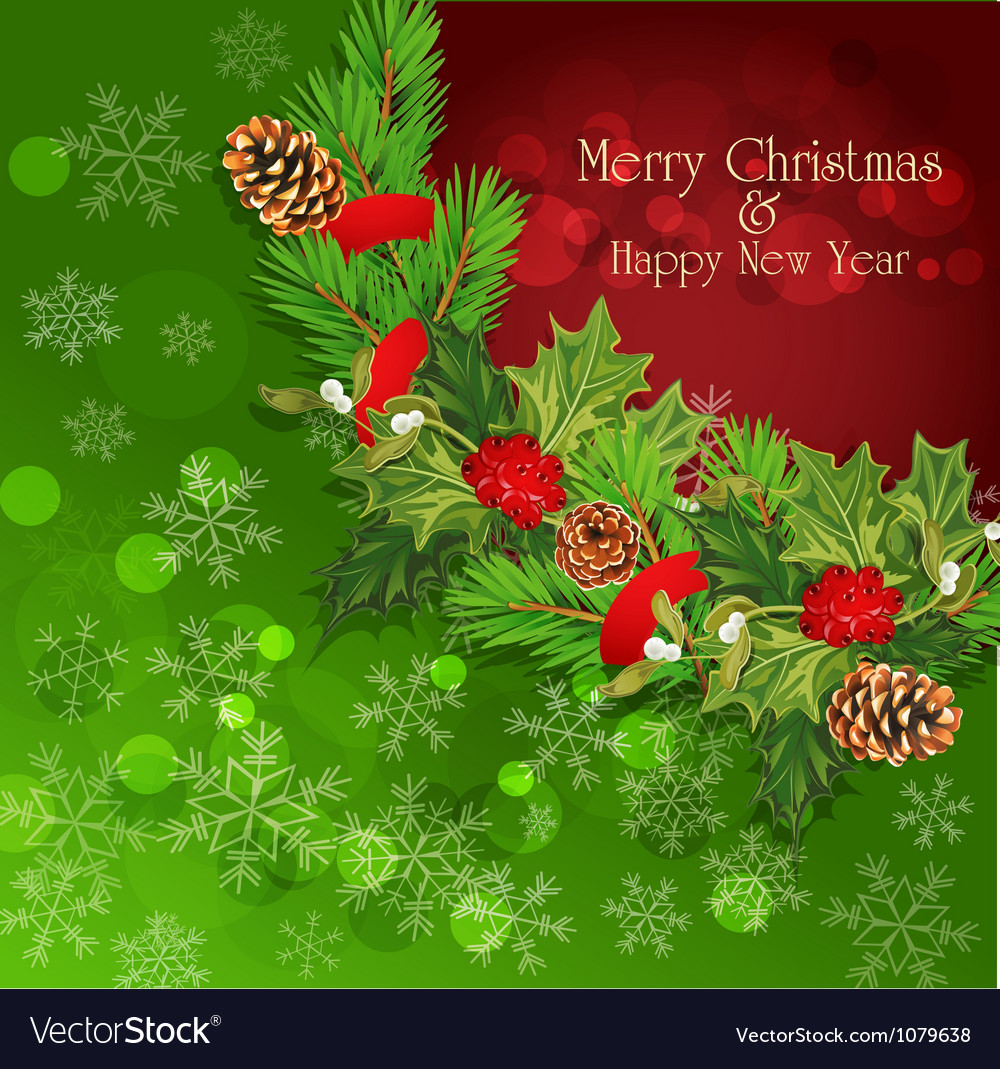 New years eve christmas background vector | Price: 1 Credit (USD $1)