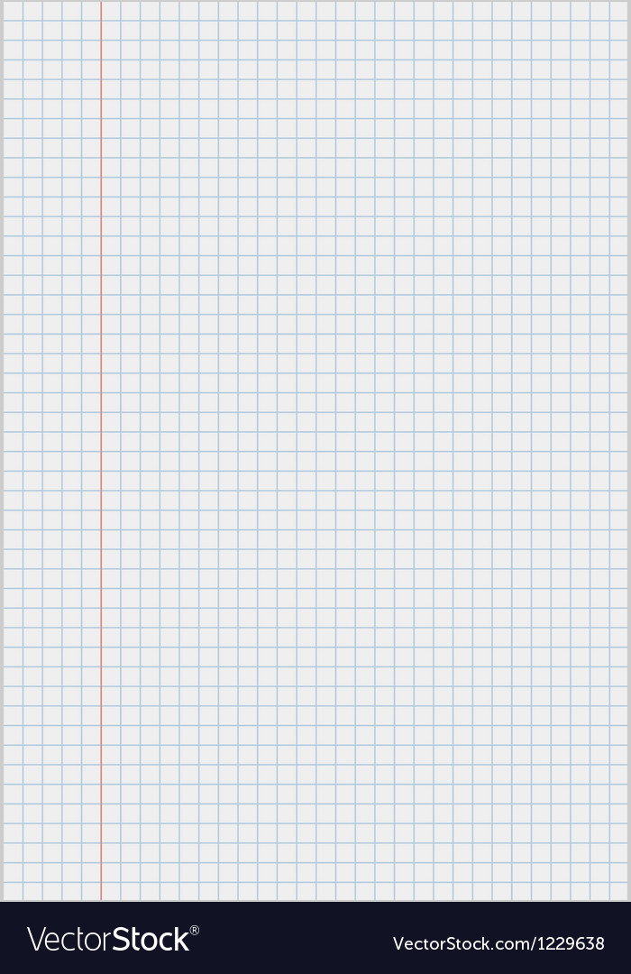 Notebook paper with squares vector | Price: 1 Credit (USD $1)