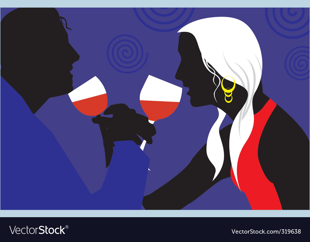 Partying couple vector | Price: 1 Credit (USD $1)