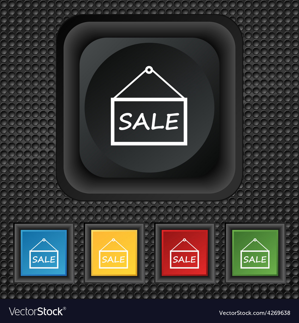 Sale tag icon sign symbol squared colourful vector | Price: 1 Credit (USD $1)