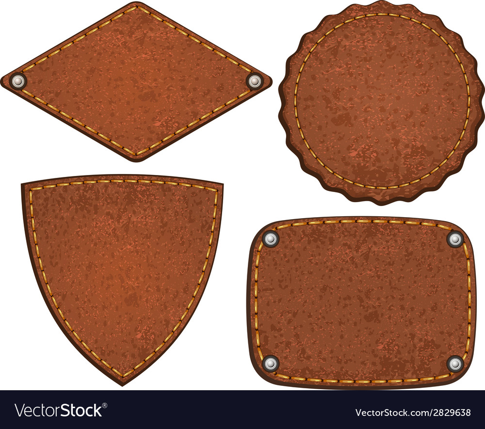 Set of leather labels vector | Price: 1 Credit (USD $1)