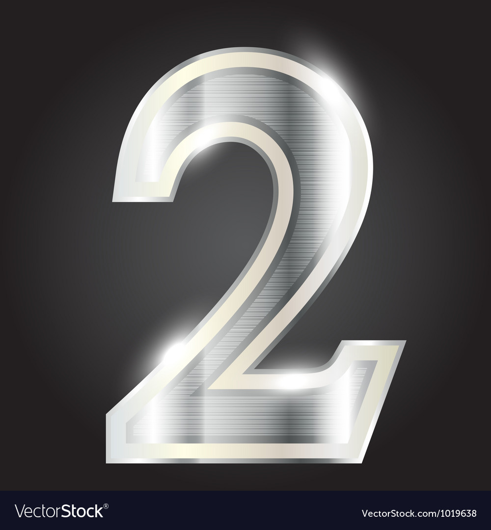 Silver metallic number vector | Price: 1 Credit (USD $1)