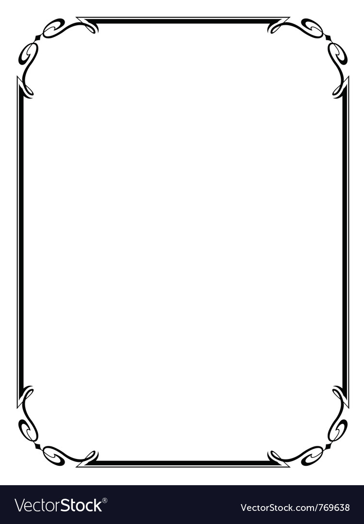 Simple ornamental frame vector | Price: 1 Credit (USD $1)