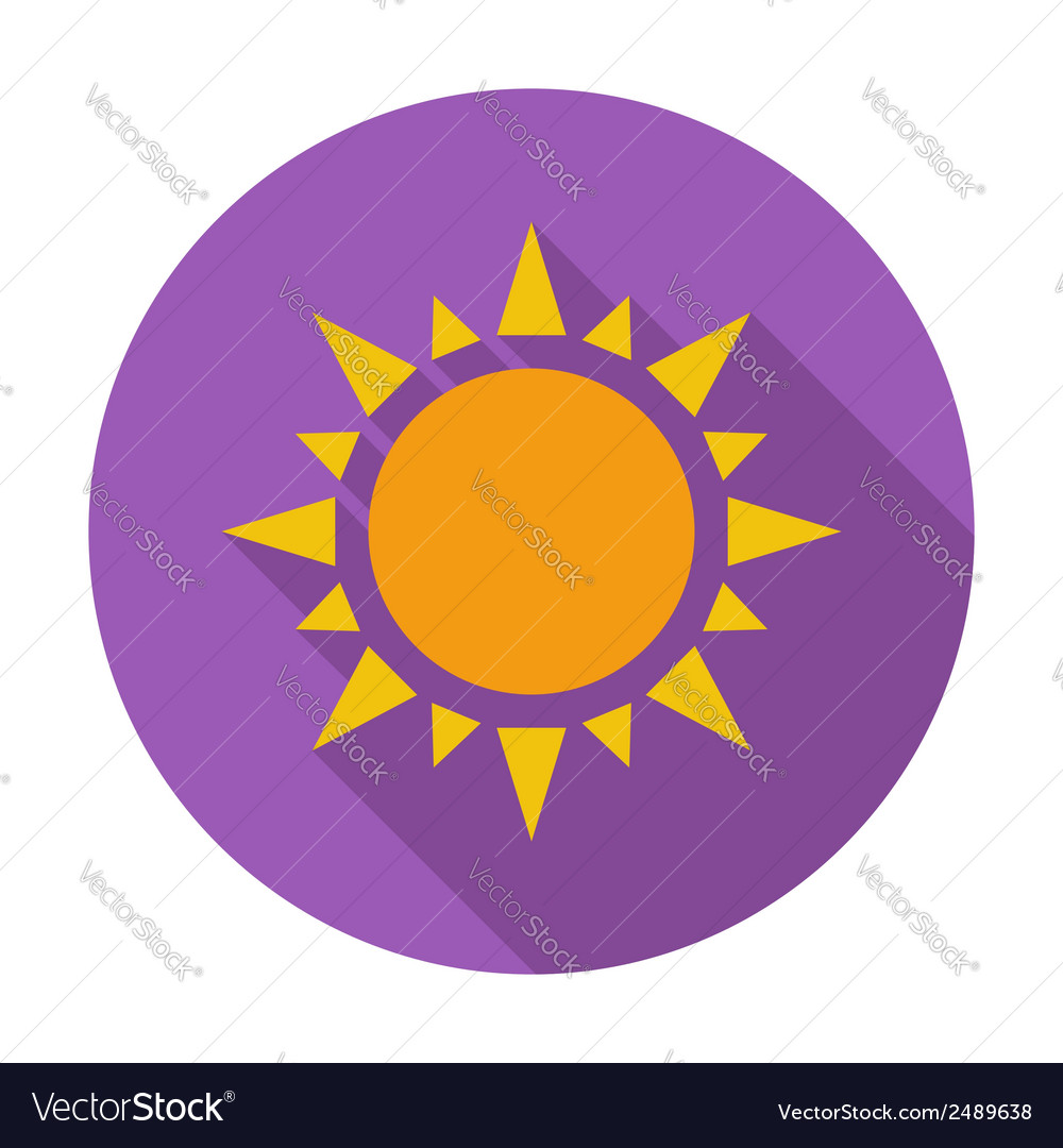 Sun flat icon vector | Price: 1 Credit (USD $1)