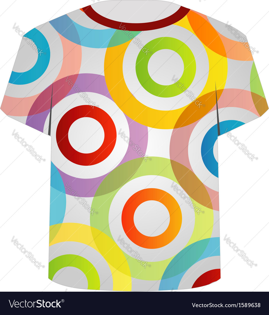 T shirt template- colorful rings vector | Price: 1 Credit (USD $1)