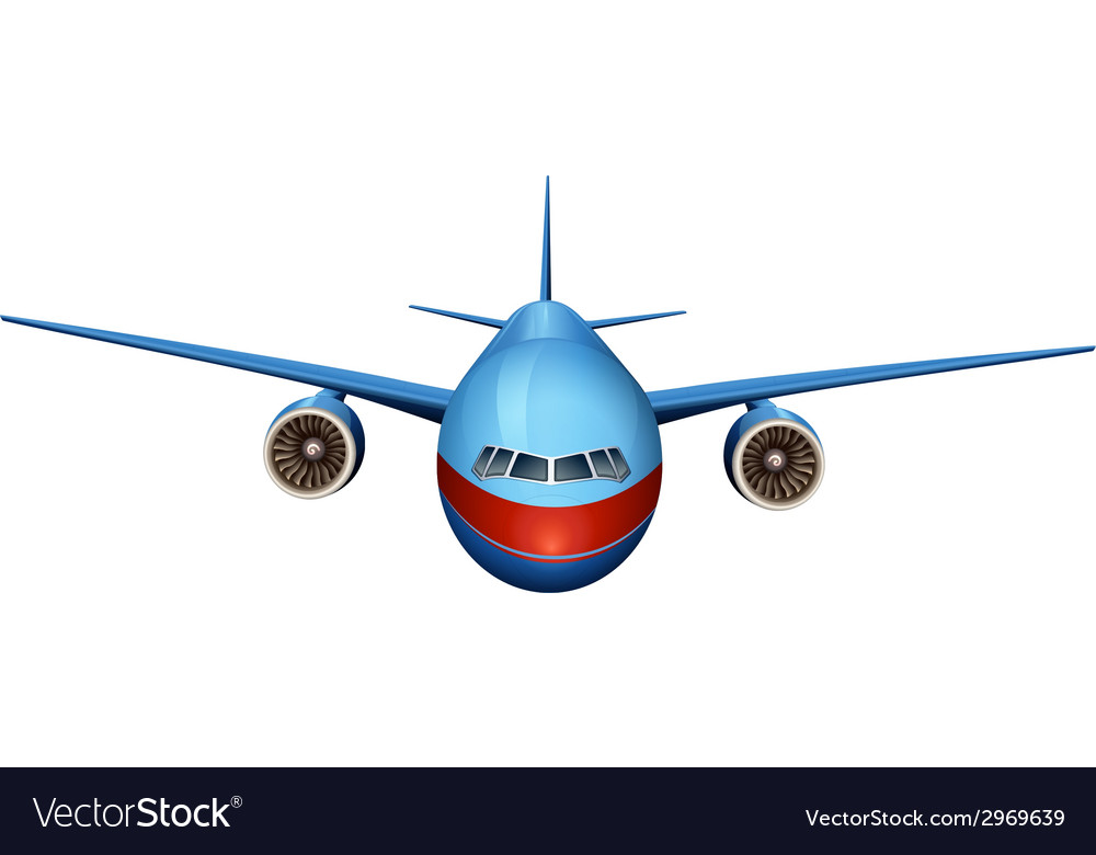 A front view of a plane vector | Price: 1 Credit (USD $1)