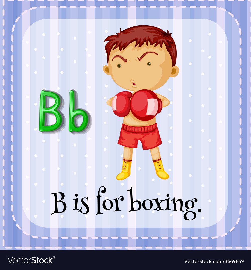A letter b for boxer vector | Price: 1 Credit (USD $1)