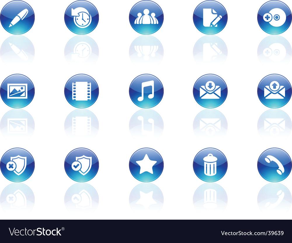Aqua icons vector   Price: 1 Credit (USD $1)