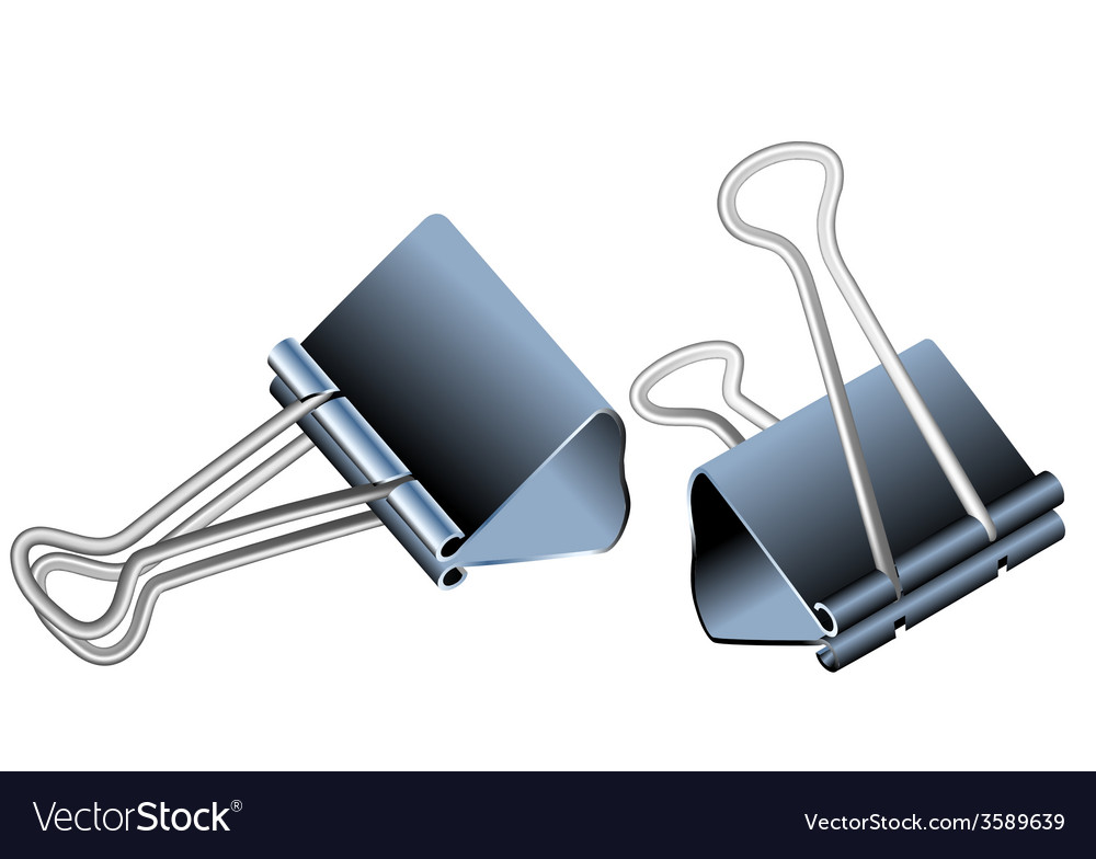 Bulldog clips vector | Price: 1 Credit (USD $1)
