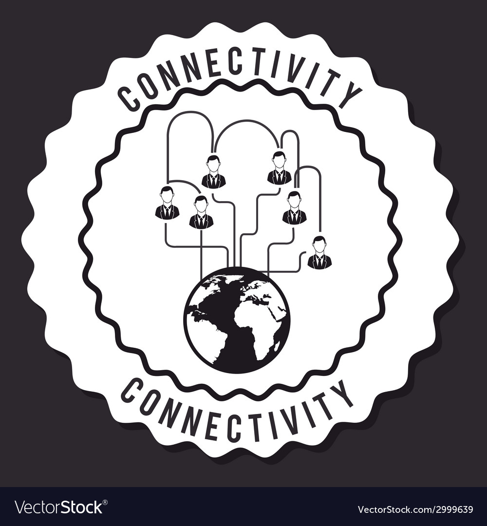 Connectivity design vector | Price: 1 Credit (USD $1)