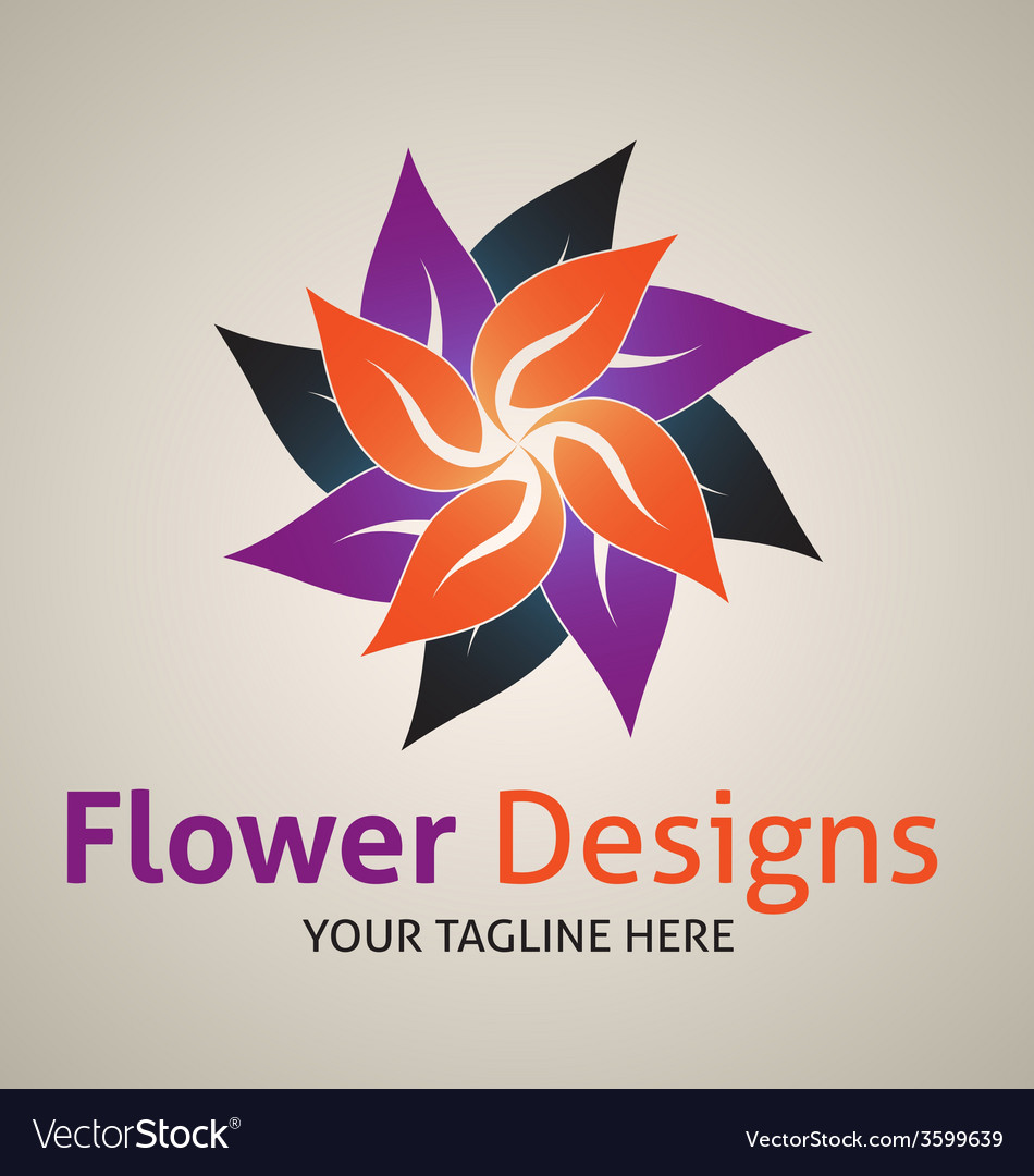 Flower designs logo vector | Price: 1 Credit (USD $1)