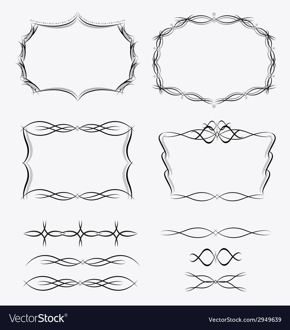 Frames line set vector | Price: 1 Credit (USD $1)