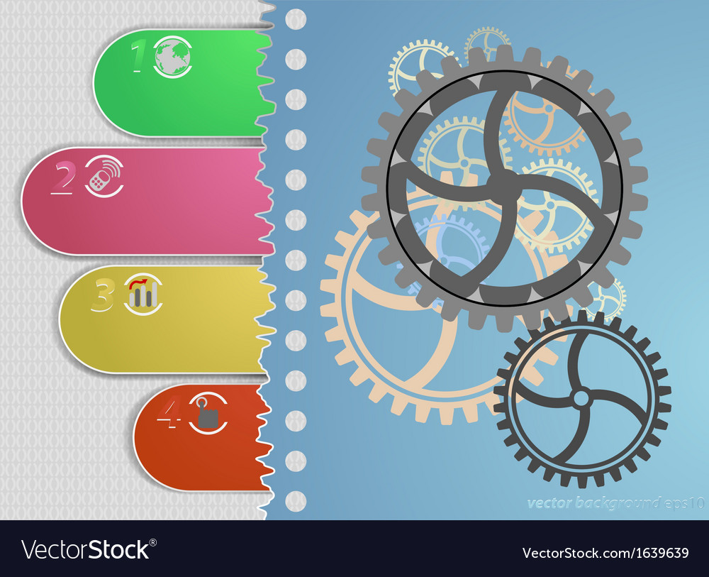 Gears concepts display background vector