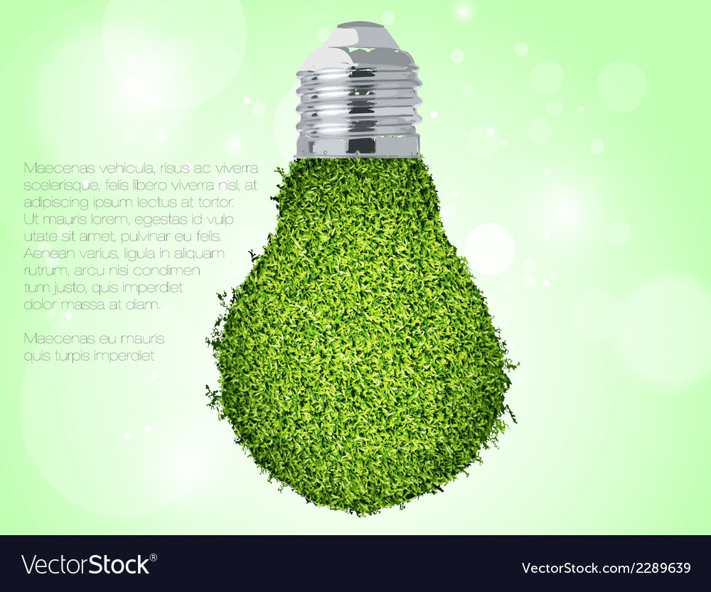 Green energy icon vector | Price: 1 Credit (USD $1)