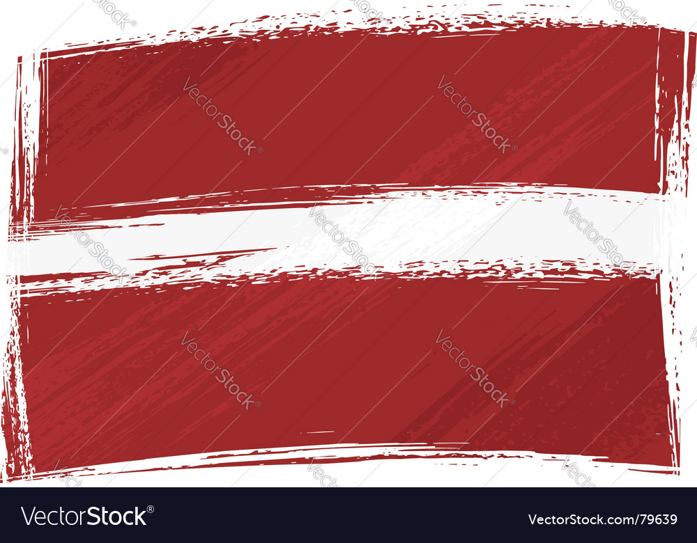 Grunge latvia flag vector | Price: 1 Credit (USD $1)