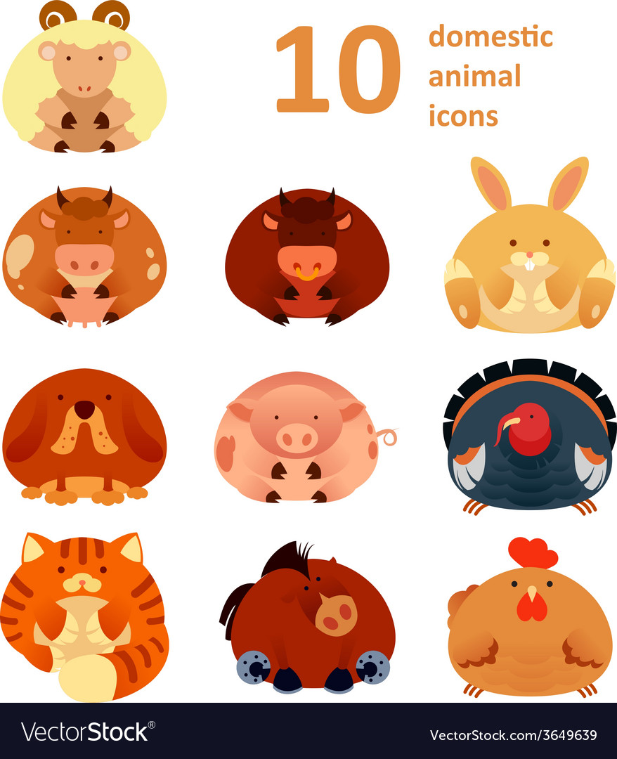 Icons with animals vector | Price: 1 Credit (USD $1)