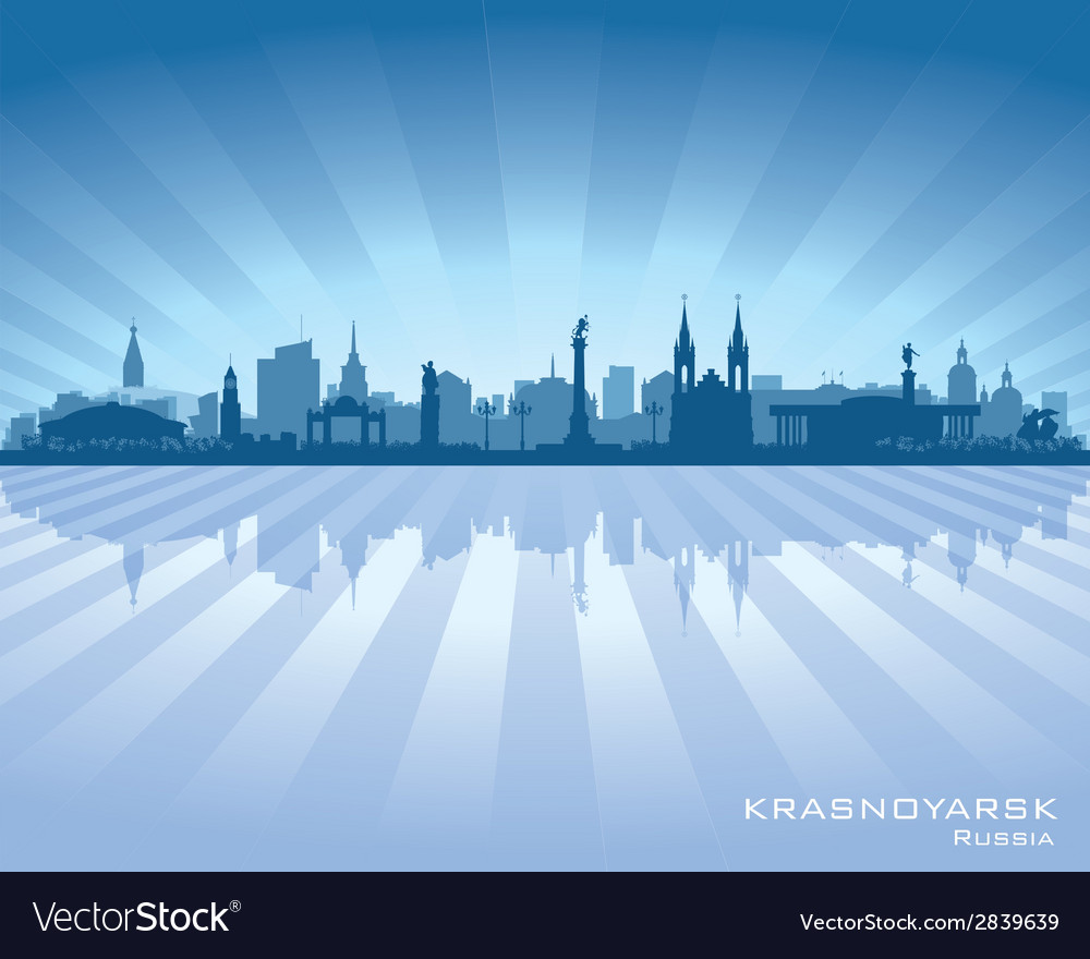 Krasnoyarsk russia skyline city silhouette vector | Price: 1 Credit (USD $1)