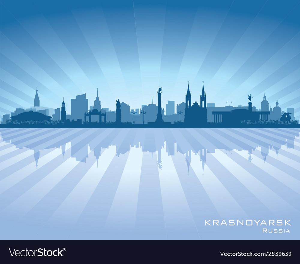 Krasnoyarsk russia skyline city silhouette vector | Price: 1 Credit (USD $1)