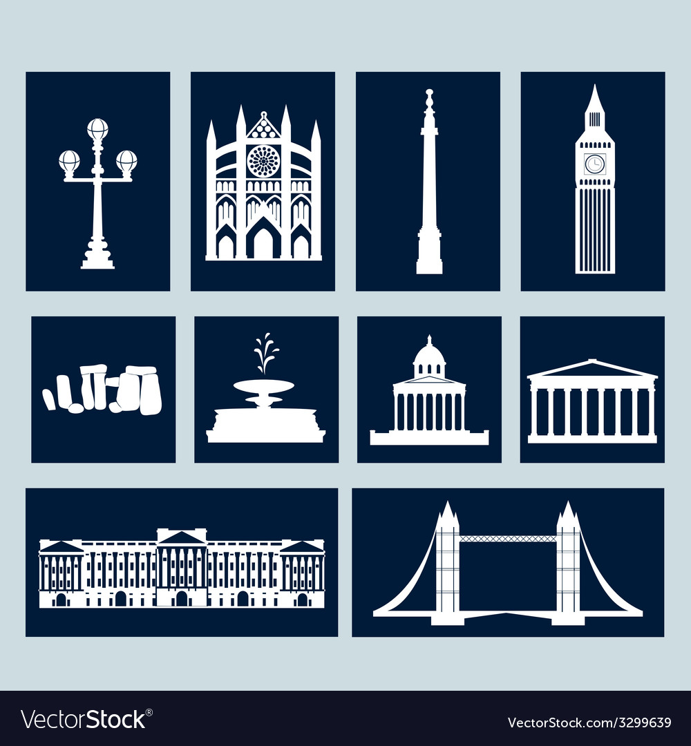 Landmarks of united kingdom vector | Price: 1 Credit (USD $1)