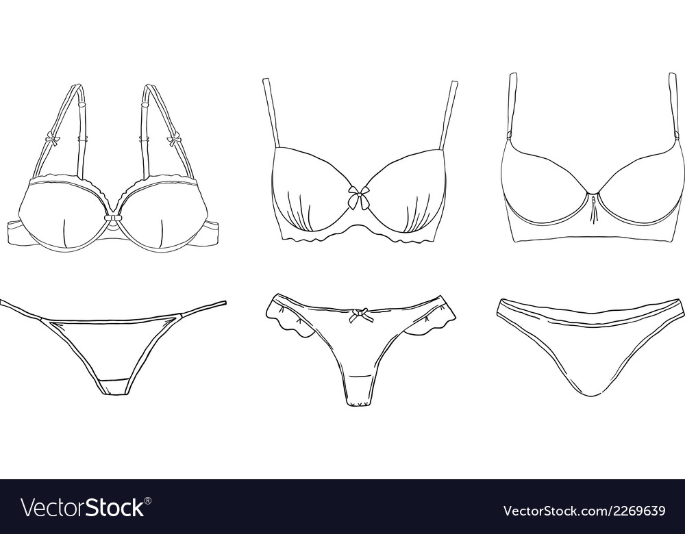 Lingerie set vector | Price: 1 Credit (USD $1)
