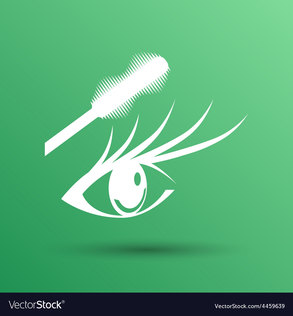 Mascara eye brush paint makeup stroke isolated vector | Price: 1 Credit (USD $1)