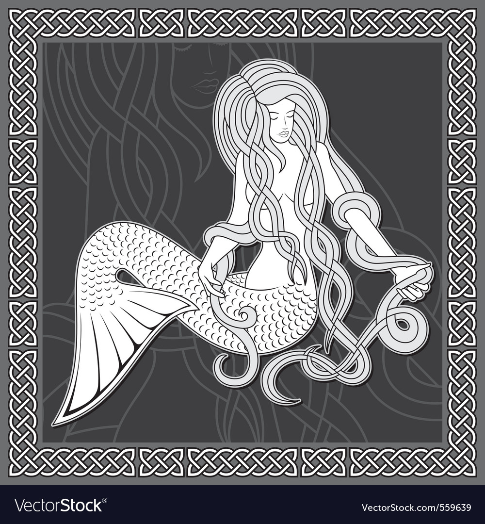 Mermaid vector | Price: 3 Credit (USD $3)