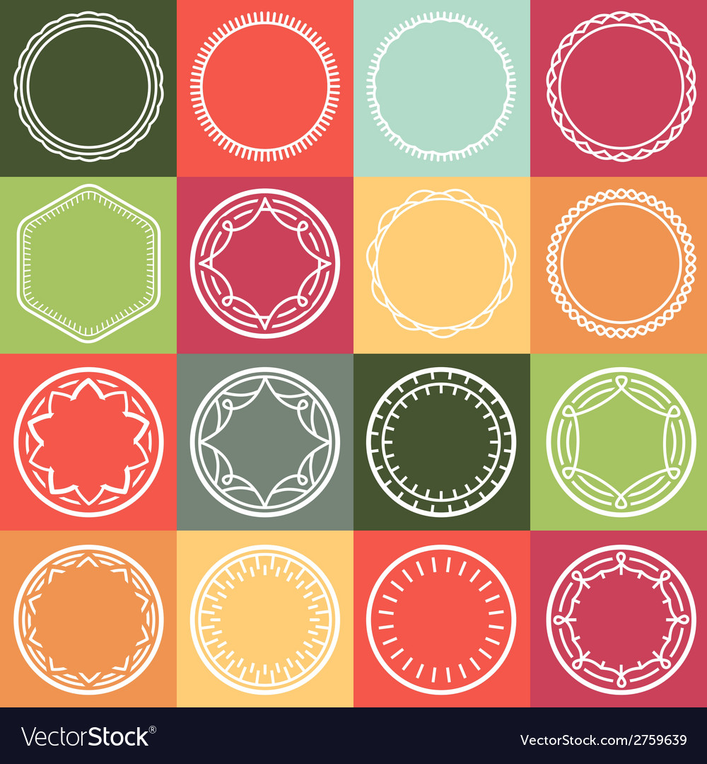 Outline frames vector | Price: 1 Credit (USD $1)