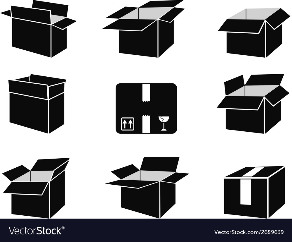 Shipping box icons vector | Price: 1 Credit (USD $1)