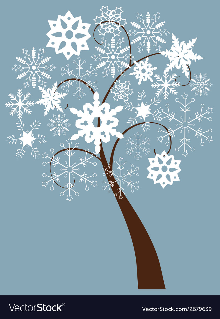 Snow tree vector | Price: 1 Credit (USD $1)
