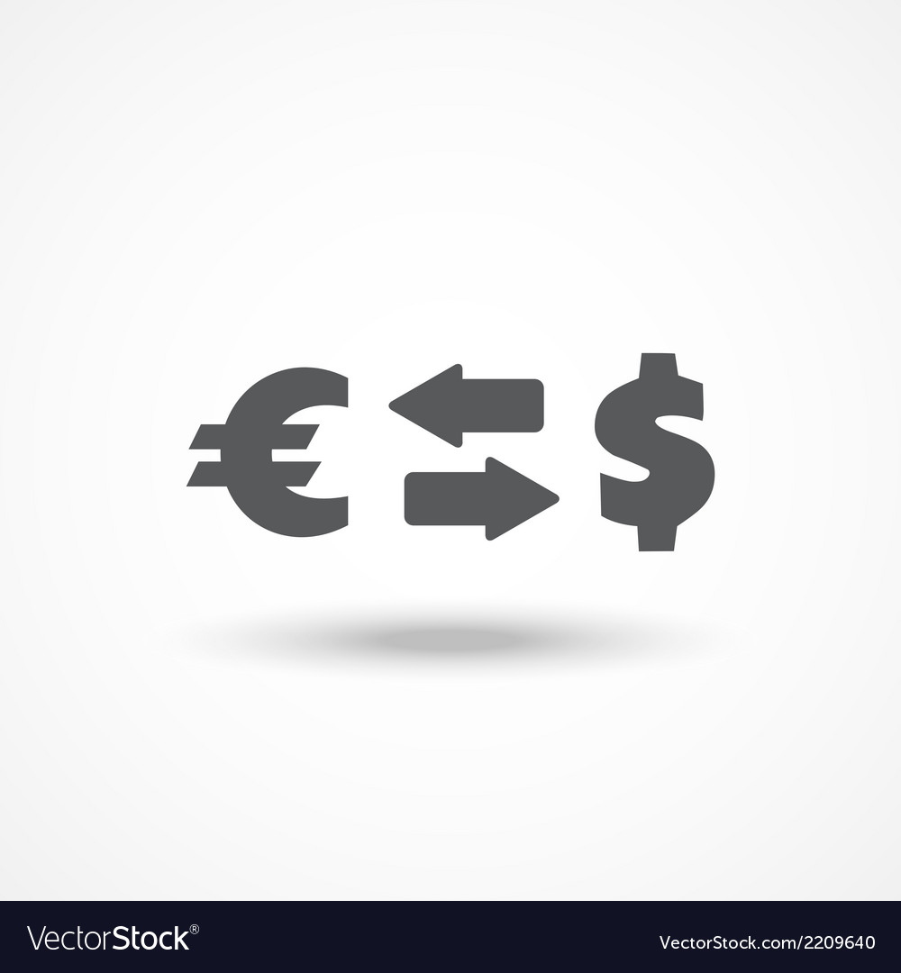 Currency exchange icon vector | Price: 1 Credit (USD $1)