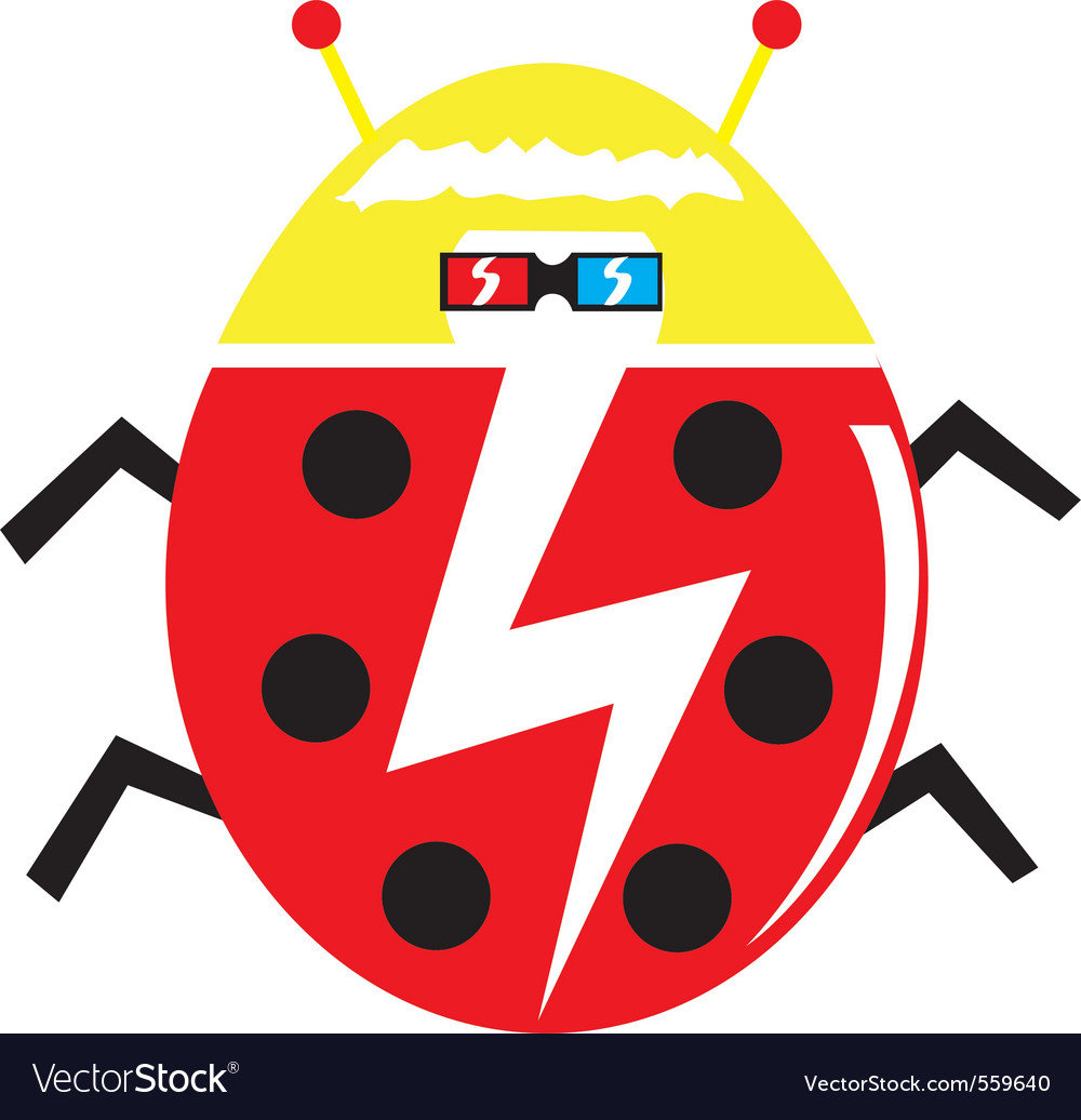 Funky lady bug vector | Price: 1 Credit (USD $1)