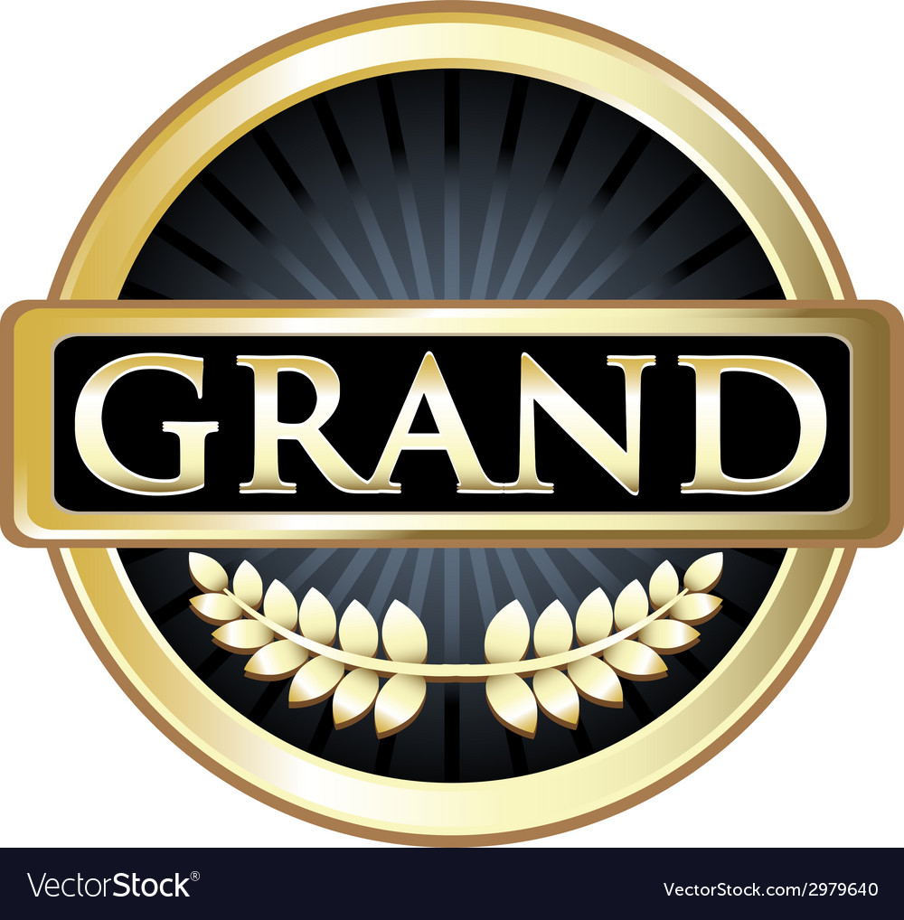 Grand gold label vector | Price: 1 Credit (USD $1)
