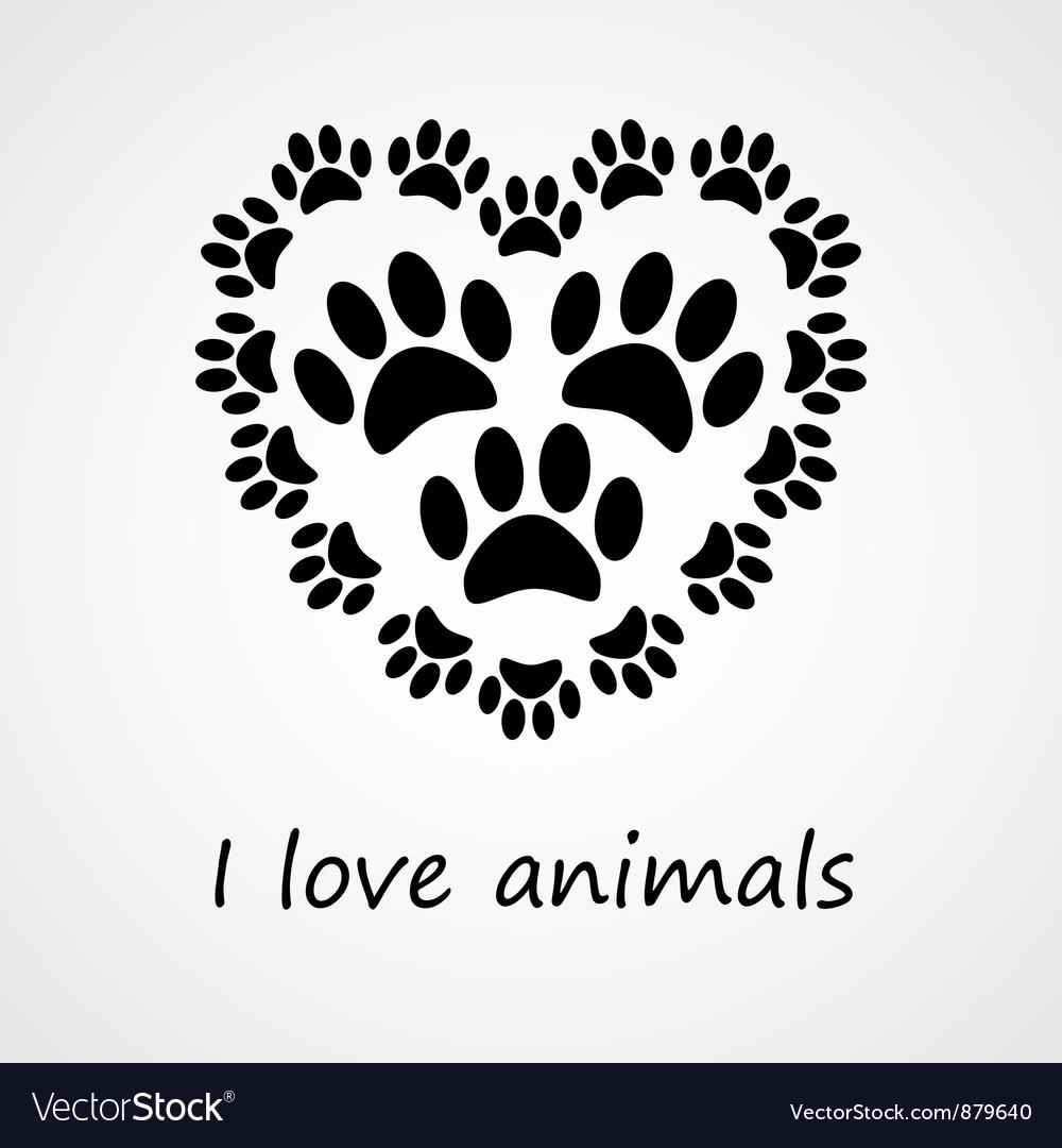 I love animals vector | Price: 1 Credit (USD $1)