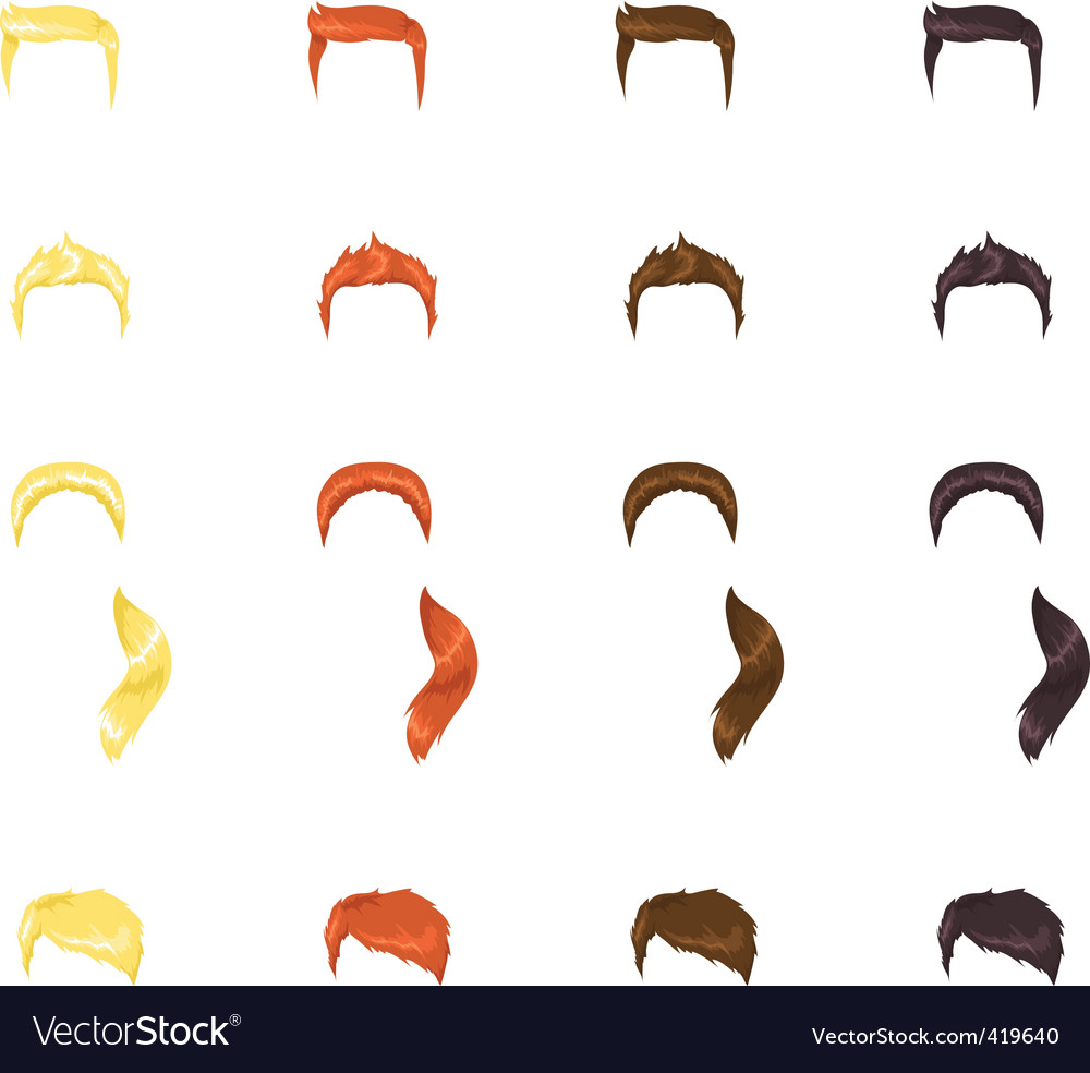 Male hair vector | Price: 1 Credit (USD $1)