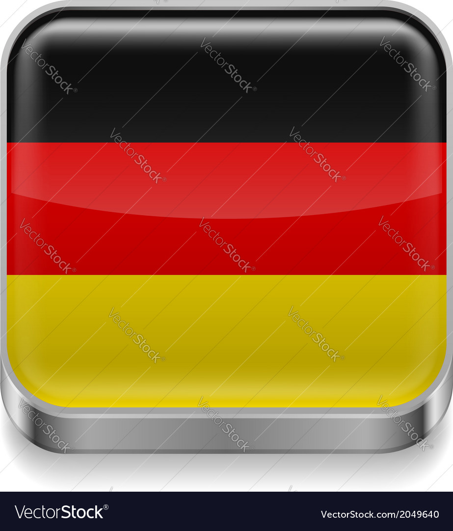 Metal icon of germany vector   Price: 1 Credit (USD $1)