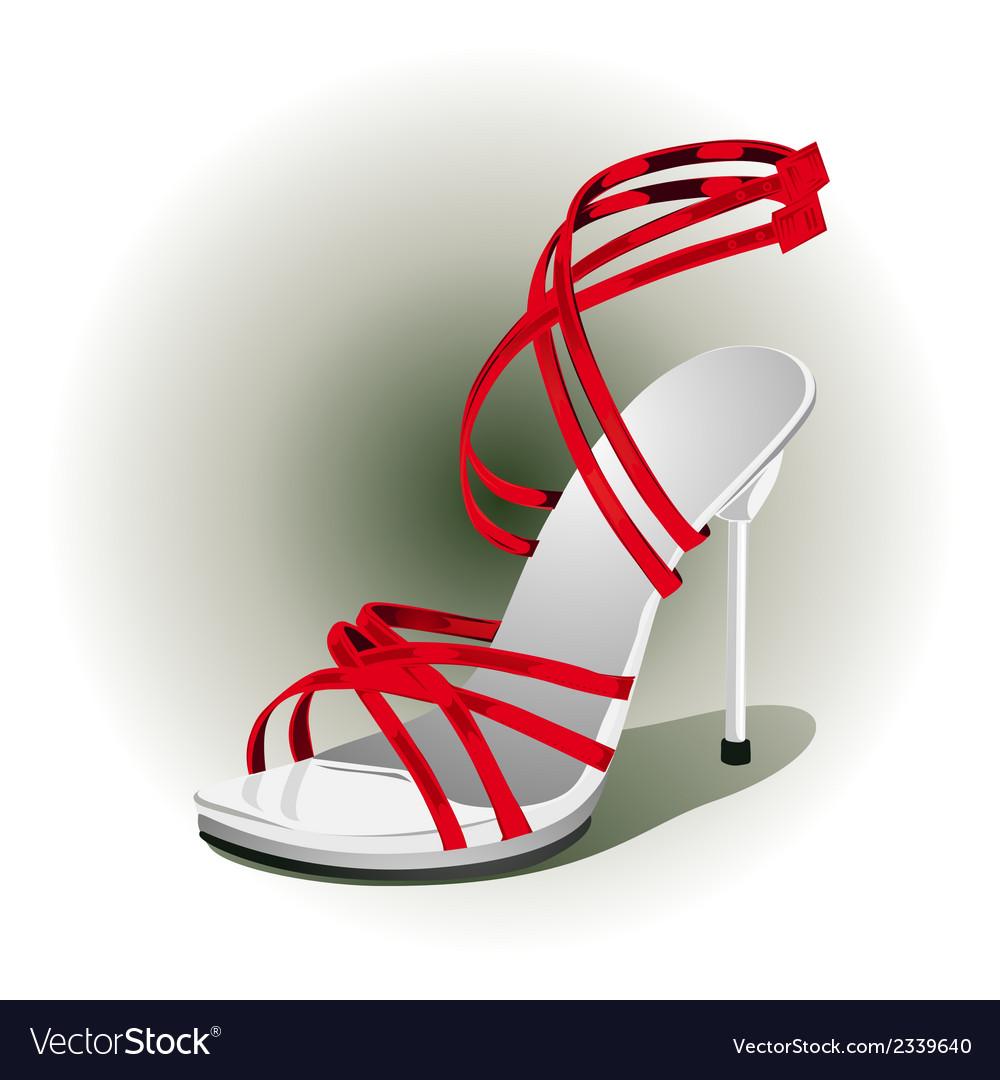 Red high heels vector | Price: 1 Credit (USD $1)