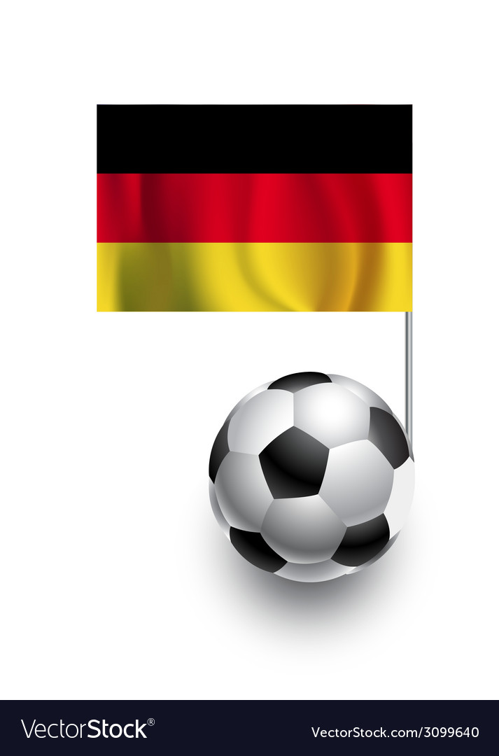 Soccer balls or footballs with flag of germany vector | Price: 1 Credit (USD $1)